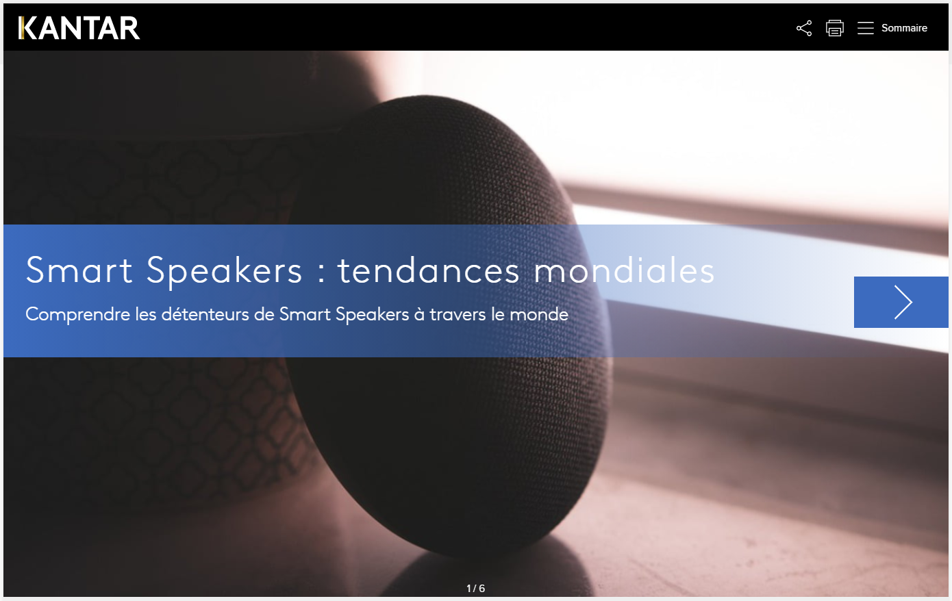 smart speakers tendances mondiales
